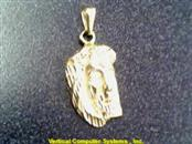 10KT Gold Charm JESUS FACE PARTCAL 14K Yellow Gold 2.1dwt